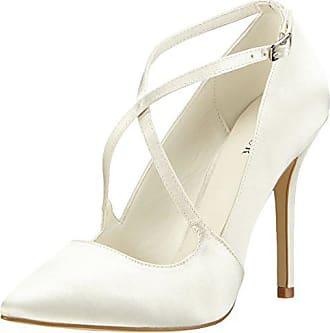 692454a005bf2c Menbur Rosario, Chaussures à Talons-Avant du Pieds Couvert Femmes,  Blanc-Elfenbein