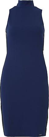 Dimy Vestido dimy Midi Liso Azul-Marinho