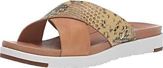 UGG Womens Kari Exotic Flat Sandal, TAN, 8.5 M US