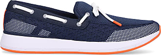 Swims Loafers BREEZE WAVE LACE cotton Ribbon dark blue