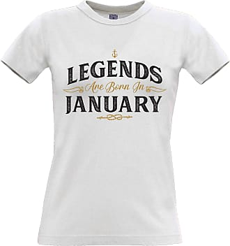 Tim And Ted Birthday Womens Tee Legends are Born in January White Large