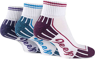 Jeep Ladies 3 Pair Cushioned Cotton Ankle Socks 4-7 Ladies White