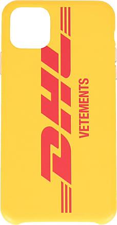 VETEMENTS Capa para iPhone 11 Pro com estampa de logo DHL - Amarelo