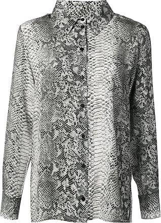 Gold Hawk python print blouse - Cinza