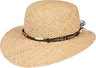 BEIGE Damen Sonnenhut Cap Sommerhut Sonnenschutz Hüt Strandhut Schlapphut Schal