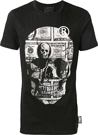 Philipp Plein Camiseta com caveira de strass - Preto