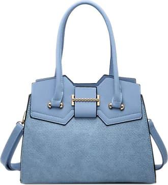 Girly HandBags Girly HandBags Womens Textured Rigid Shoulder Bag - Blue