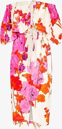 Dries Van Noten Womens Pink Dayna Floral Off-the-shoulder Dress
