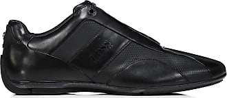 eea9ae391 BOSS Hugo Boss Men Mercedes F1 formula 1 black leather driving shoe trainer  Sporty Lowp MXMB
