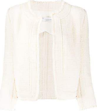 Iro cropped tweed jacket - White