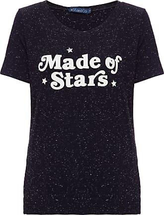 Vi And Co Camiseta Made Of Stars Preta - Mulher - Preto - 42 BR