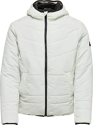 Only & Sons Falke Hoodie Jacket Multi Pockets in Cloud Dance Small