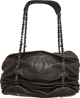 195265001927 Chanel 2006-8 Chanel Chocolate Brown Calfskin Hobo Plisse W dustbag 11578375