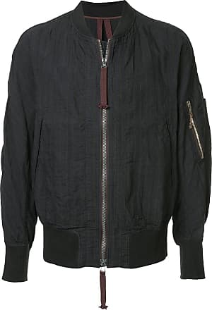 Ziggy Chen striped bomber jacket - Black