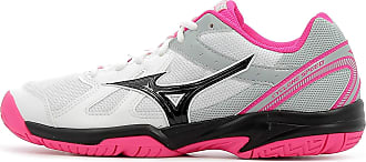 Mizuno Womens Cyclone Speed Low-Top Sneakers, Multicolour (White/Black/Pink Glo 001), 8 UK