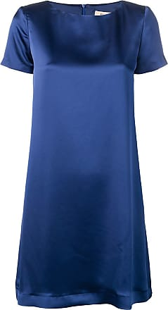 Blanca Vestido reto - Azul
