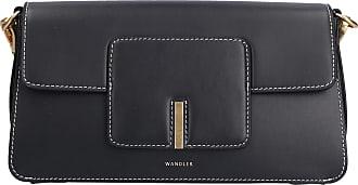 Wandler Handtasche GEORGIA Kalbsleder Logo schwarz