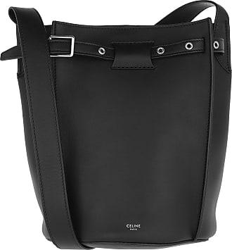 Celine Big Bucket Bag Leather Black Beuteltasche schwarz