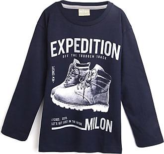 Milon Camiseta Milon Menino Estampa Azul-Marinho