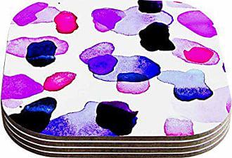 KESS InHouse Iris LehnhardtCool Summer Blue Purple Coasters (Set of 4), 4 x 4, Multicolor