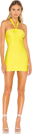 Superdown Torie Halter Dress in Yellow