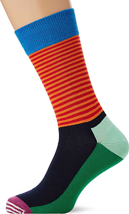Happy Socks Mens Half Stripe Sock, Multicolour (Multicolour 730), 7-10 (Size:41-46)