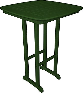 POLYWOOD Outdoor POLYWOOD Nautical 31 in. Bar Height Recycled Plastic Table Mahogany, Patio Furniture - NCBT31MA