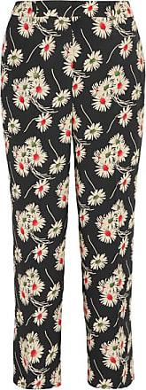 1ff5143dd Prada Cropped Floral-print Crepe Wide-leg Pants - Black