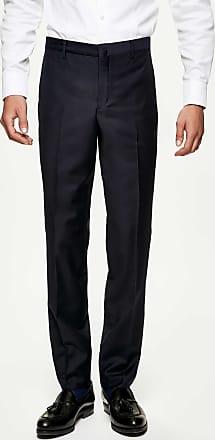 Hackett Mens Mayfair Slim Fit Wool Trousers | Size 38 | Midnight Blue