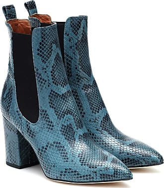 PARIS TEXAS Exclusive to Mytheresa - Snake-effect leather ankle boots