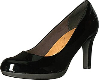 7ff73cb87e507 Clarks Womens Adriel Viola Dress Pump, Black Patent, 7 W US