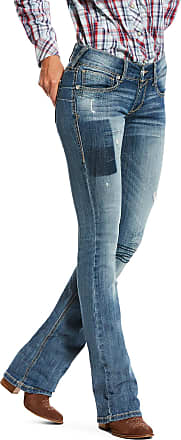 Ariat Womens R.E.A.L Low Rise Sky Boot Cut Jeans in Polaris Cotton, Size 26 Long, by Ariat