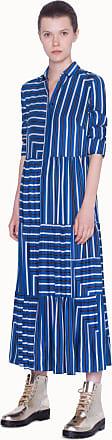 Akris Striped Silk Maxi Dress