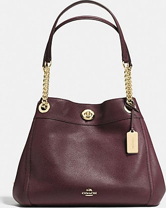 Coach Turnlock Edie Shoulder Bag in Red
