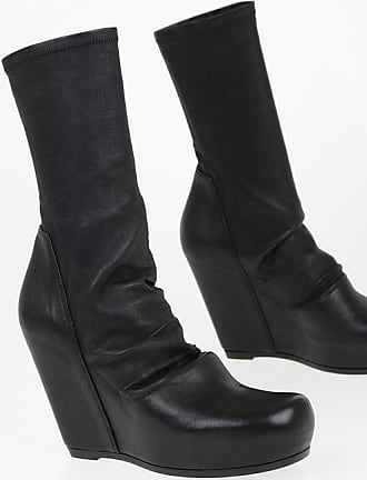 Rick Owens Leather SOCK WEDGE Pull On Booties 12 cm Größe 40