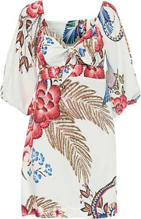 Farm Vestido Curto Floral Yuke Farm - Off White
