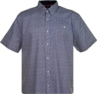 Espionage Mens Short Sleeve Floral All Over Shirt - Blue - 7XL
