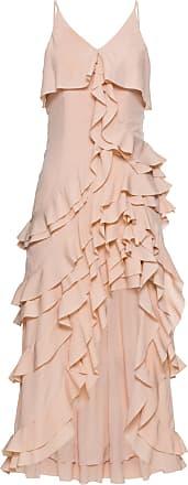 4b961568db3b22 BODYFLIRT boutique Kleid mit Volants ohne Ärmel in beige von bonprix