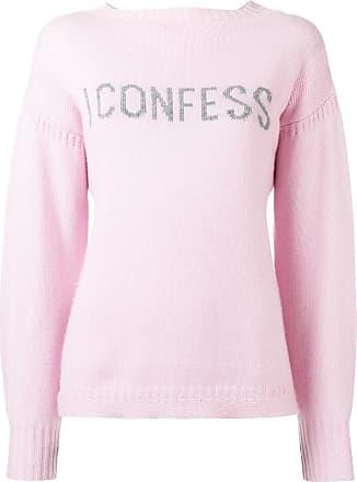 Olympia Le-Tan Suéter de cashmere com slogan - Rosa