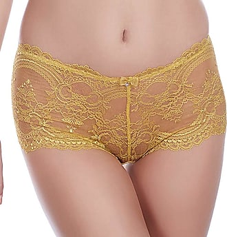 Wacoal Lingerie Chrystalle Short/Knickers Sauterne 119006 M Yellows