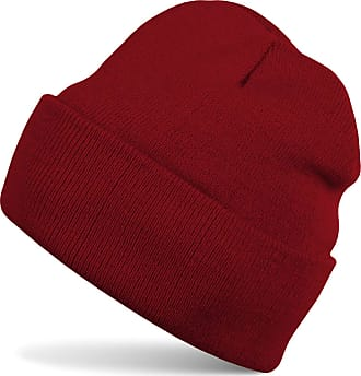 styleBREAKER Classic Beanie Knit hat, Warm fine Knit hat, Unisex 04024029, Color:Claret-Red