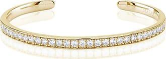 Sif Jakobs Jewellery Bangle Simeri - 18k gold plated with white zirconia