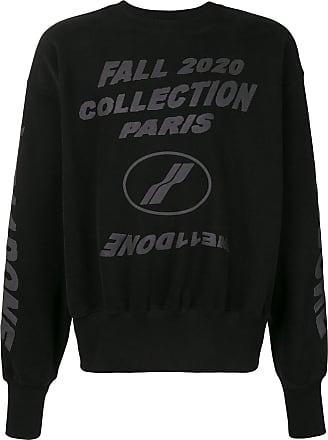 We11done Sweatshirt mit Logo-Print - Schwarz