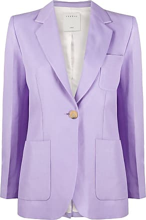 Sandro Edie single-breasted blazer - PURPLE