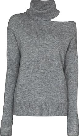 Paige Suéter Raundi de lã com recortes - Cinza