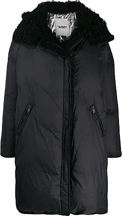 Yves Salomon - Army hooded oversized coat - Black