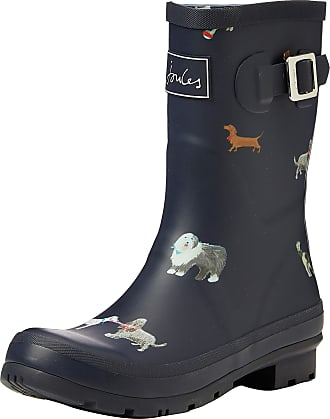 Joules Womens Molly Welly Wellington Boots, Blue (Mayday Dogs Maydaydogs), 7 UK (40/41 EU)