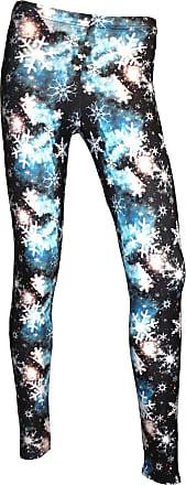 Insanity Blue Snowflake Galaxy Beautiful Winter Design Printed Leggings (M/L)