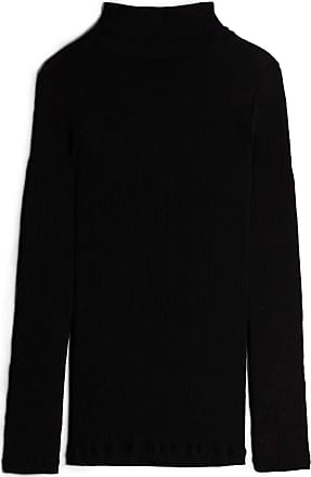 intimissimi Womens Long-Sleeve High-Neck Tubular Top in Wool and Silk