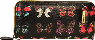 Swankyswans Coco Glitter Multicolor Butterfly Print Wallet - Large (Black)